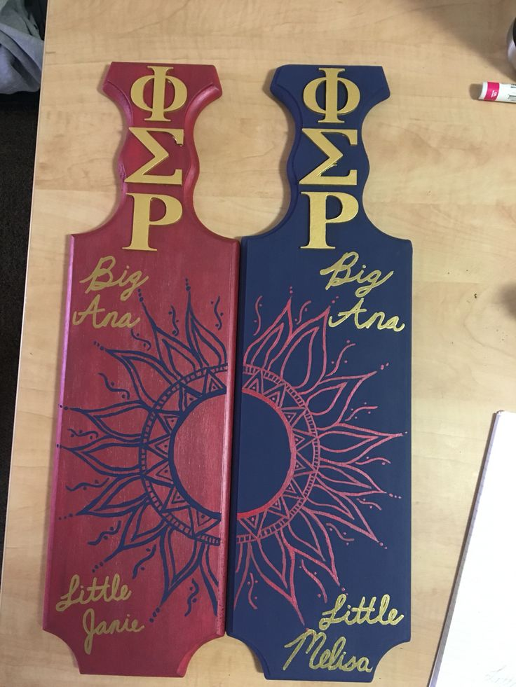 Sorority paddles from twins