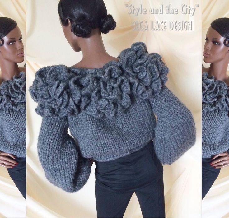 "Купить Вязаный свитер из коллекции ""Style and the City"" от Olga Lace - вязаный…"