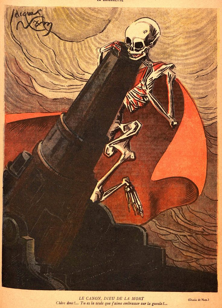 "thefugitivesaint: ""Pierre-Emile Legrain (1889-1929), 'Le Canon, Dieu De La Mort' (The Canon, God of Death), ""La Baïonnette"", Jan. 3, 1918 Source """