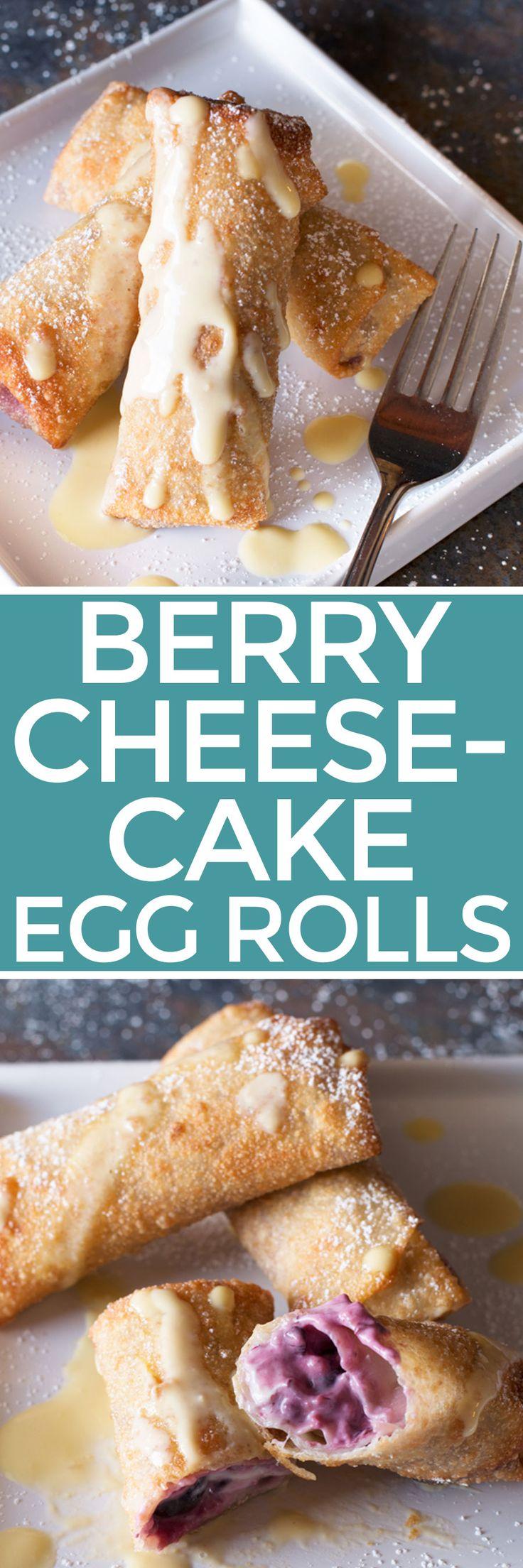 Berry Cheesecake Eggrolls – Cake 'n Knife