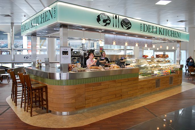 Enjoy a snack at the Deli Counter, Glasgow Airport. by Tibbatts Abel