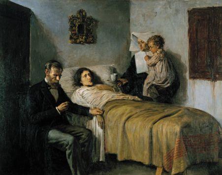 """Pablo Picasso, """"Ciencia y caridad"""", 1897,  Museo Picasso, Barcelona"""