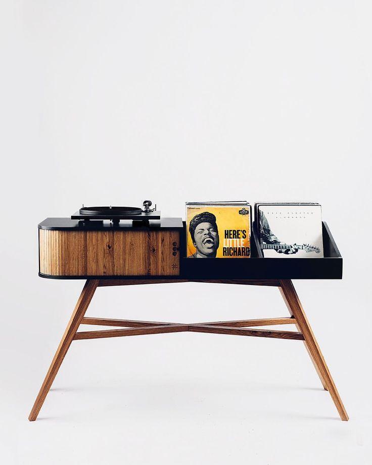 Der Vinyl Tisch Ein Mid Century Modern Inspirierter