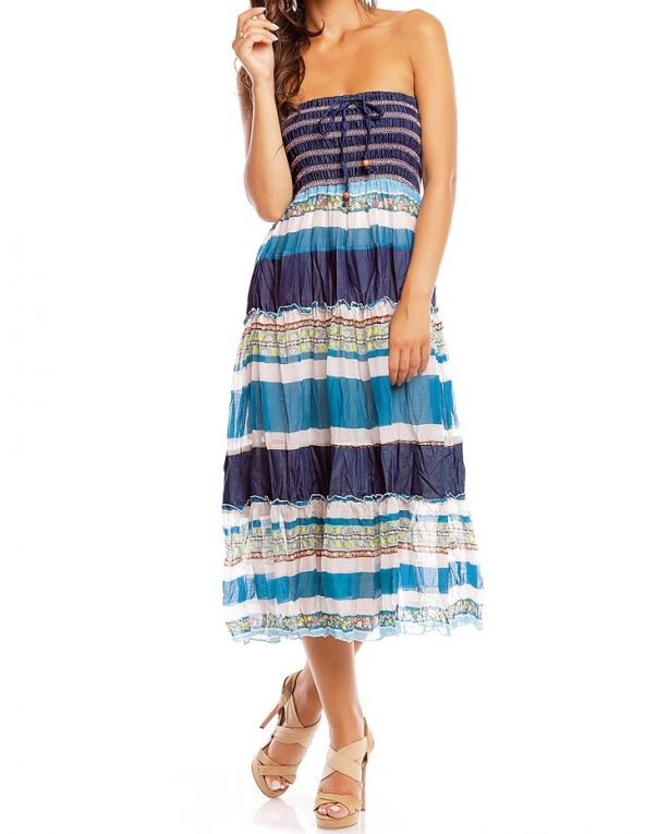 Jurk rok 2 in 1 blauw 2 in 1 Ibiza rok en jurk blauw S/M, L/XL €17,50 in 3 verschillende kleuren