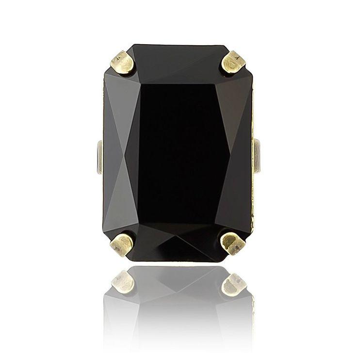Cocktail Ring in Swarovski Crystal Rectangle #$20---$50 #Australia #Emerald
