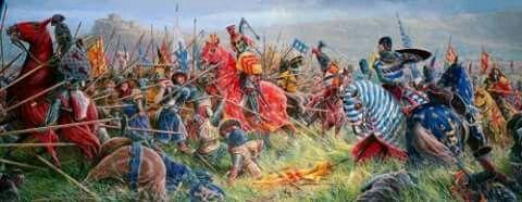 Batalla de Bannonckburn en el 1314,clanes escoceses vs ingleses
