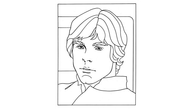 17 best images about make star wars quiet book on for Luke skywalker coloring page