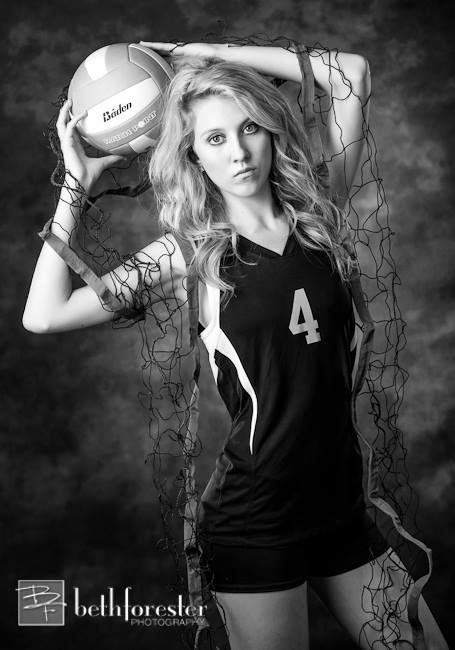 volleyball BW photo idea