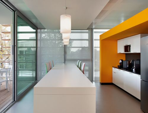Best Cafe Kitchen Areas Images On Pinterest Office Interiors