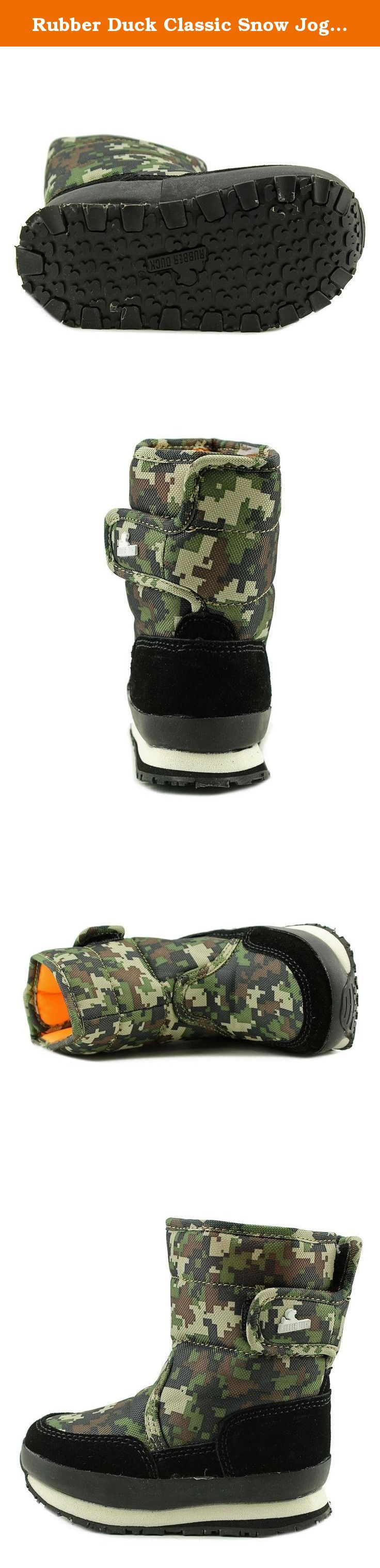 Rubber Duck Classic Snow Joggers Boots (Toddler/Little Kid/Big Kid), Camo Print, 27 BR(10 M US Toddler). Fashionable Winter Boot.