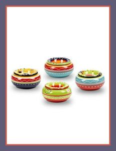 Set 4 Assorted Pieces 5″ Ceramic Medium Colorful Southwestern Covered Ashtrays Ceramic Ashtray With Lid comes in a set. Save by buying a set of 4 Assorted colors. http://theceramicchefknives.com/ceramic-ashtray-lid/