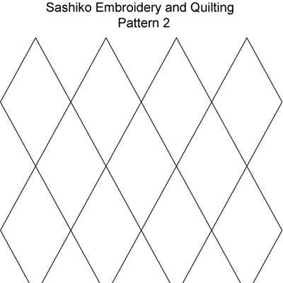 FREE Sashiko Embroidery Patterns - Set 1: Sashiko Pattern 2