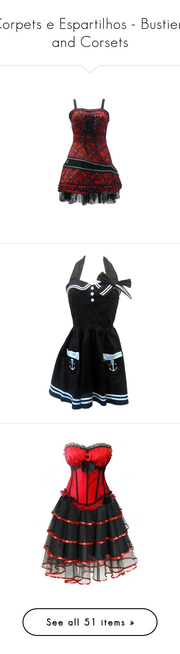 """""""Corpets e Espartilhos - Bustiers and Corsets"""" by caty-cullen-black ❤ liked on Polyvore featuring dresses, short dresses, short mini dress, hell bunny dresses, tartan plaid dress, plaid cocktail dresses, red cocktail dress, vestidos, goth punk dress and mini dress"""