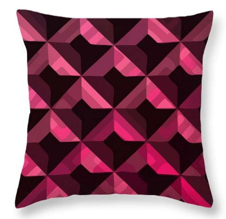 I've always seen black and pink as an interesting combo. I have pictured this design on a cushion as a bold part of your updated home decor. In the right room this could look quite stunning.