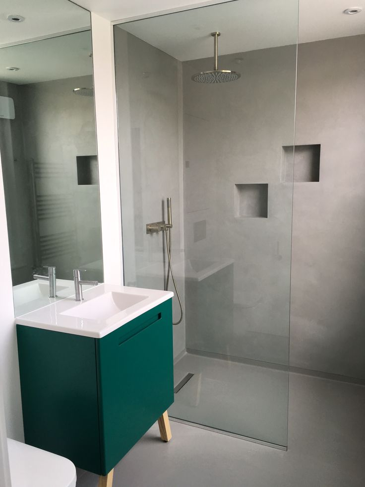 Thanks to Joana in London for pic of your bathroom: Swoon Soft Vanity Unit, Shades of Emerald.