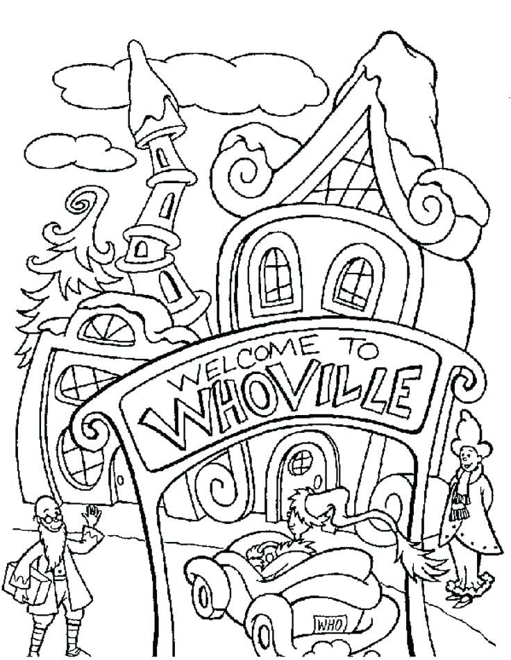 dibujos para colorear del grinch kawaii