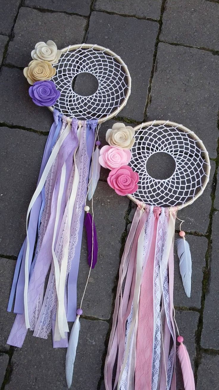 Boho floral dreamcatcher  (1) made to order by ThinkSleepy on Etsy