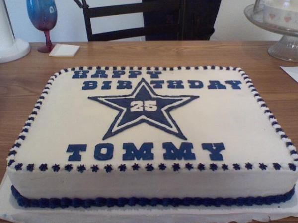 Dallas Cowboy Birthday Cake Pics