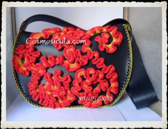 Crochet And Inner Tube Bag by Cosmosicula
