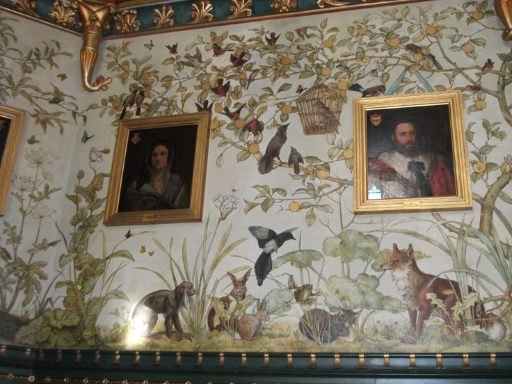 Art's The Answer!: September 2011-- Castle Coch in Wales, Aesop's fables on drawing room wall