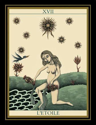 XVII. The Star - Le Tarot Noir by Matthew Hackiere