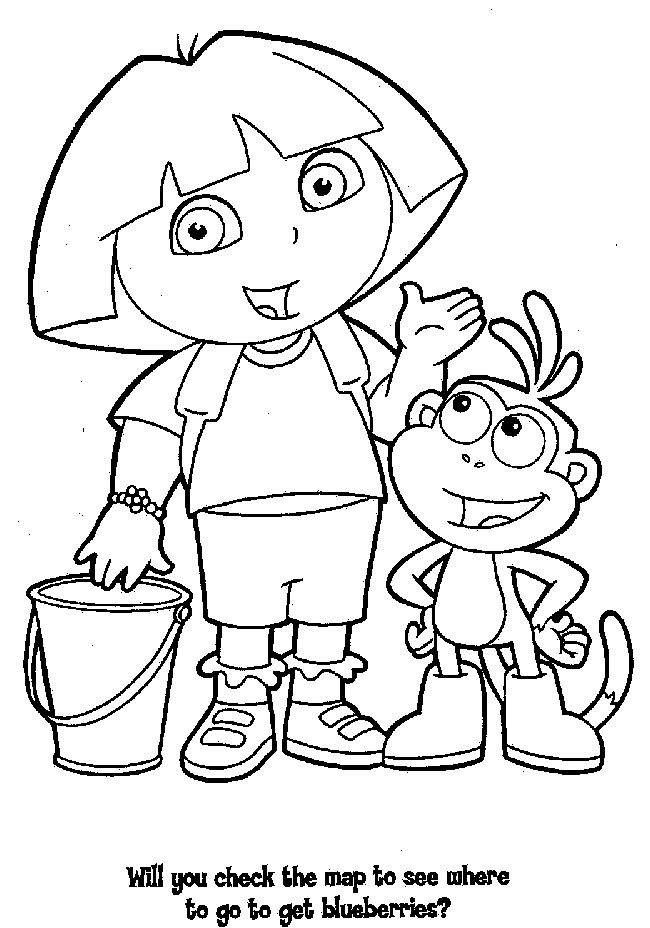 19 best images about Dora The Explorer Coloring Pages on Pinterest