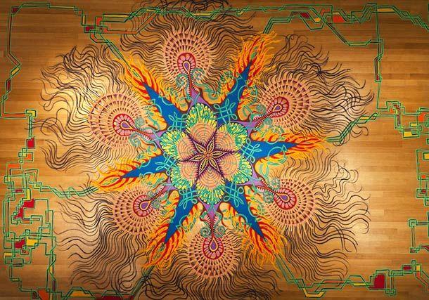 Les peintures éphémères en sable coloré de Joe Mangrum (image)