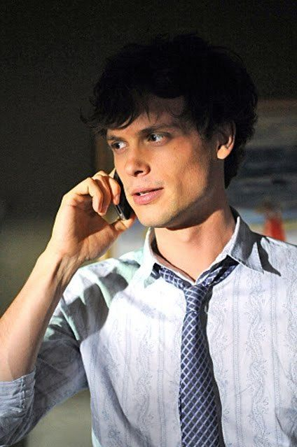 The most perfect nerdy boyfriend.  Dr. Spencer Reid from Criminal Minds <3