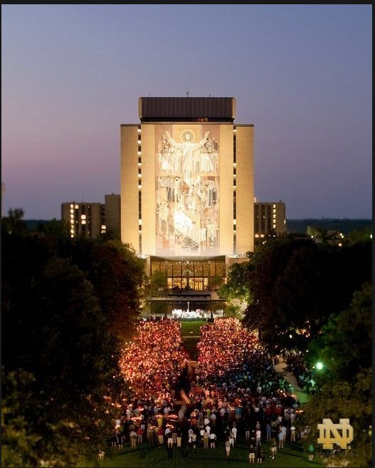 Notre Dame campus wide mass for Sept. 11th 10-year anniversary.