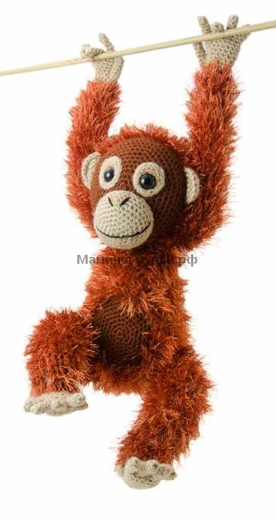 "Вязаная крючком обезьяна ""Орангутанг Орвел"""