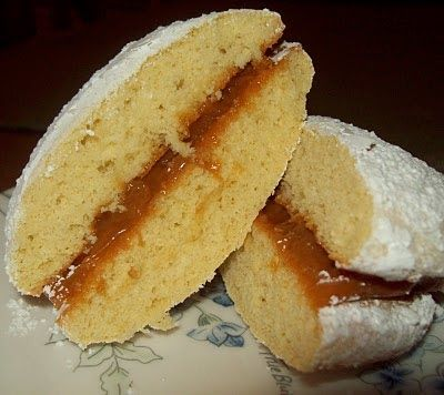 Empolvados - Chilean Pastry filled with Dulce de Lech    Empolvados are one of my favorite things from Chile. I remember growing up and eat...