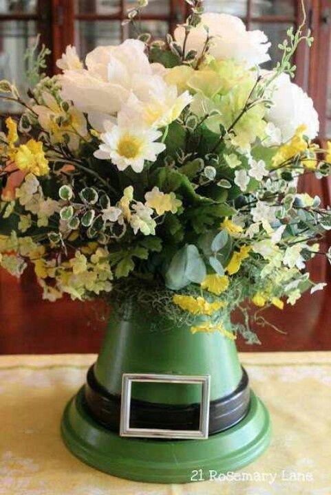 St Patrick Day floral arrangement