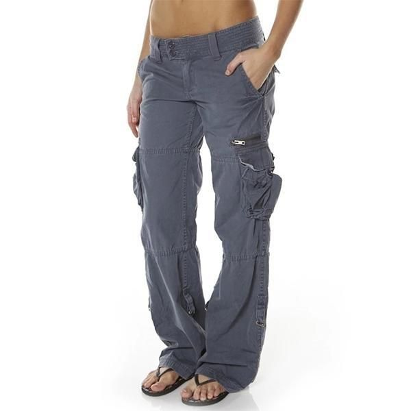 Hip Hugger Comfy Cargo Casual Pants Abworthy Pants For Women Clothes Fashion