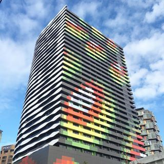 Back of the William Barak building just as great as the front #architecture #melbourne #australianarchitecture #armarchitecture #williambarak #swanstonstreet #colour #color #colorful #design