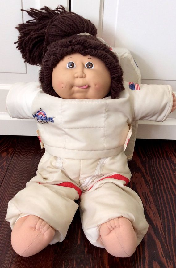 1986 Astronaut Cabbage Patch Kids Doll Girl With Tongue Sticking Out, Coleco Cabbage Patch Kids, Astronaut Cabbage Patch Girl, CPK, OAA
