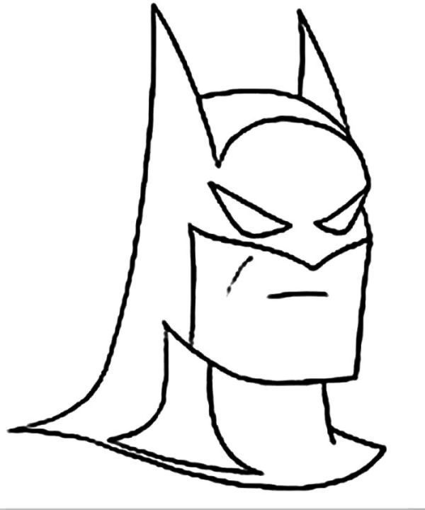 Picture Of Batman Head Coloring Page Who Doesn T Know Batman Maybe All Dc Fans And Superhero Movie Fans M Batman Coloring Pages Cartoon Coloring Pages Batman