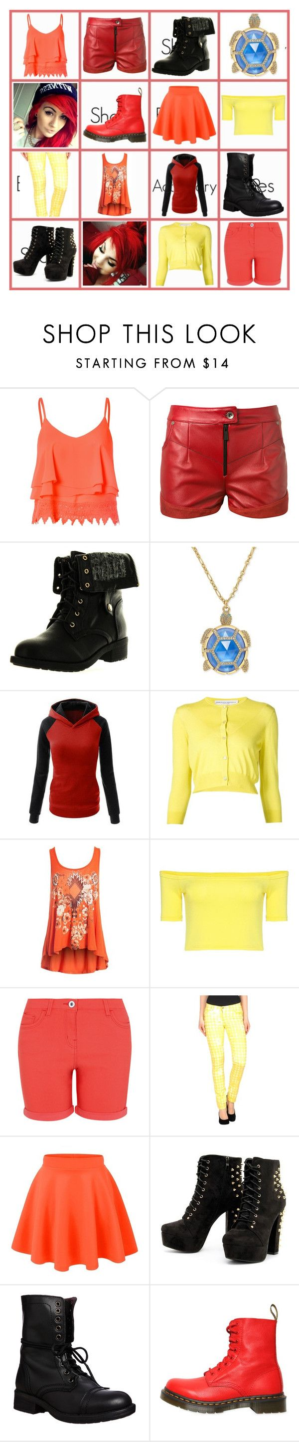 """Ashley Logan#3"" by phoenix-fox ❤ liked on Polyvore featuring Glamorous, Magda Butrym, Refresh, Kate Spade, Carolina Herrera, Sans Souci, George, AMY GEE, Steve Madden and Dr. Martens"