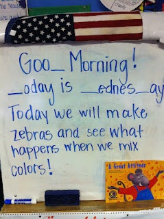 Morning Meeting Ideas- Great ideas for pre-k! fillin the missing letters based on the sounds heard in the word