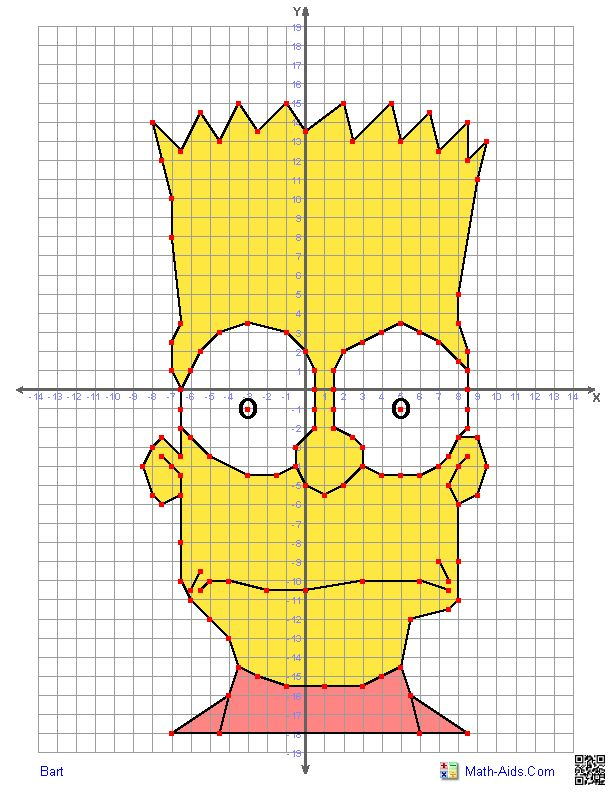 Here's a site with different worksheets for students to have fun creating characters while graphing in all four quadrants!