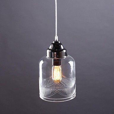 Anheng Lys ,  Moderne / Nutidig Traditionel / Klassisk Vintage Lanterne Rustikk Nikkel Trekk for Mini Stil GlassStue Soverom Spisestue