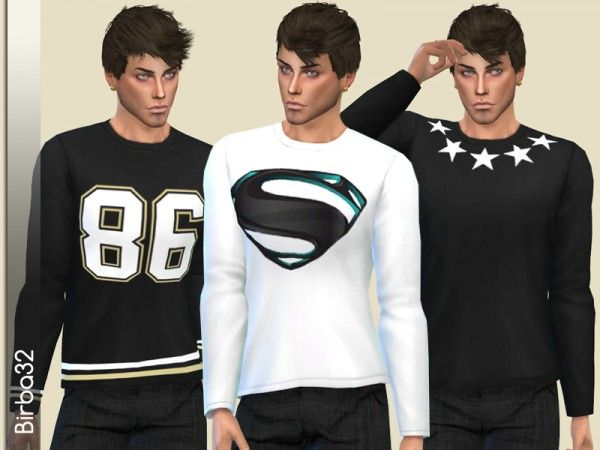 The Sims Resource: Stars T-Shirts by Birba32 • Sims 4 Downloads