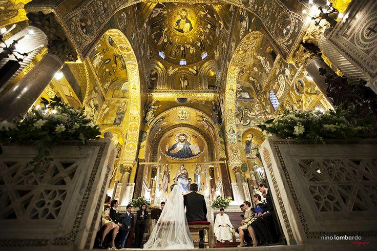Wedding in Italy • Cappella Palatina in Palermo, Sicilia • Nino Lombardo Photographer • www.ninolombardo.it