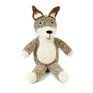 Cuddly toy BROWN FOX. Designed by Anne-Claire Petit. Available on www.darwinshome.com