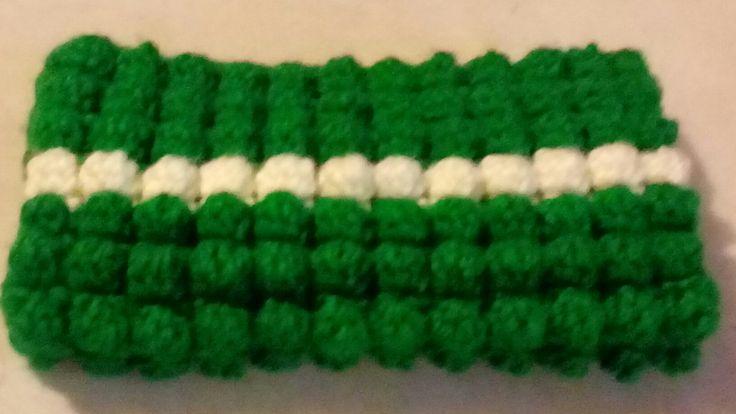 Funda Celular tejida a crochet con punto Bubble