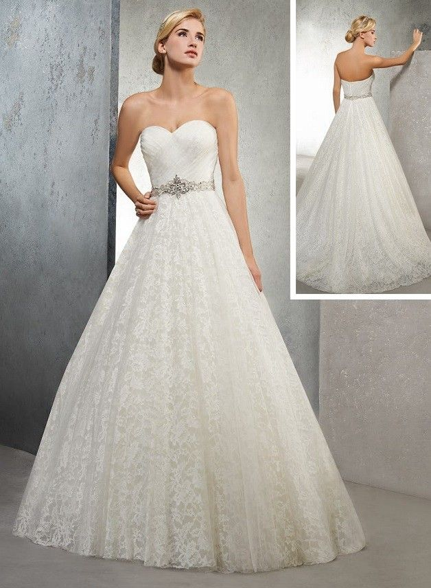 robe de mariée princesse en dentelle  Collection 2017 de robes de ...