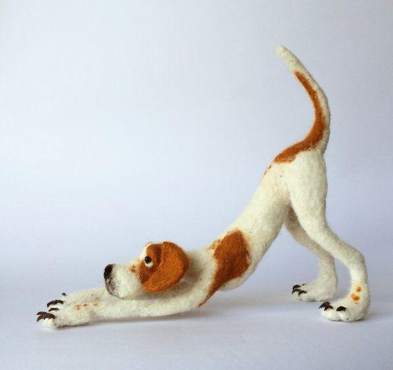 Nadel Gefilzte Zeiger Hund Skulptur. Für von mikaelabartlettfelt