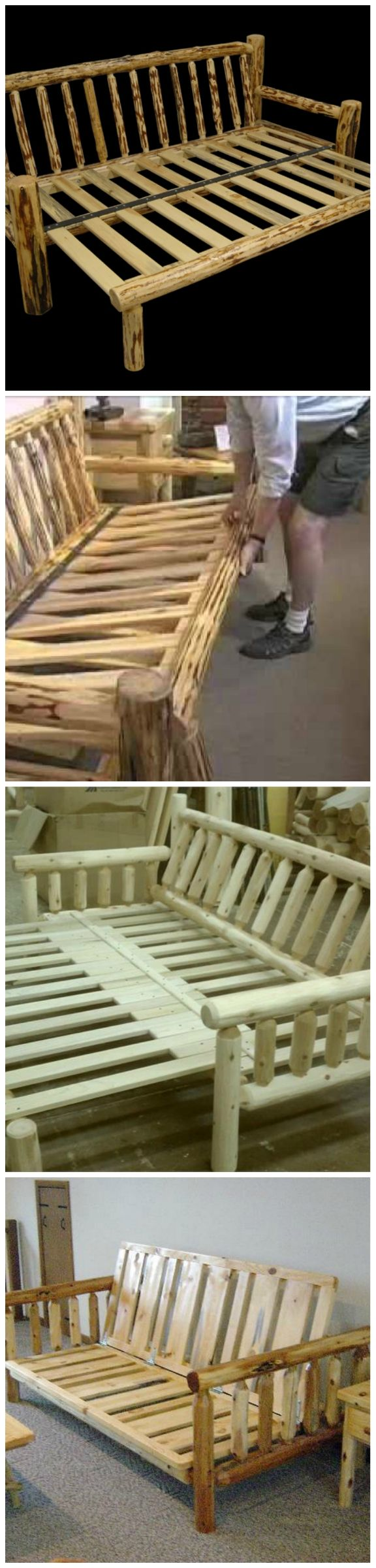 Furniture Log Sofa Futon