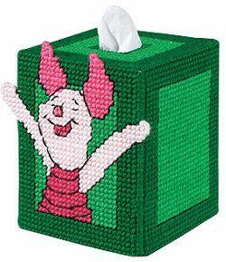 Free Plastic Canvas Tissue Box Patterns   By Brand - Janlynn kits - Piglet Tissue Box Cover Plastic Canvas ...