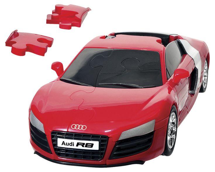 3Д пазл «Машина Ауди R8 V10», 61 элемент