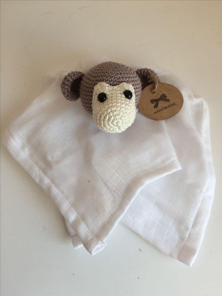 Schnuffeltuch  Affe Gehäkelt
